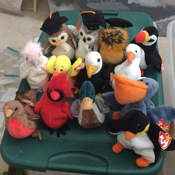 Vintage Other - 12 Birds Beanie Babies (no duck)